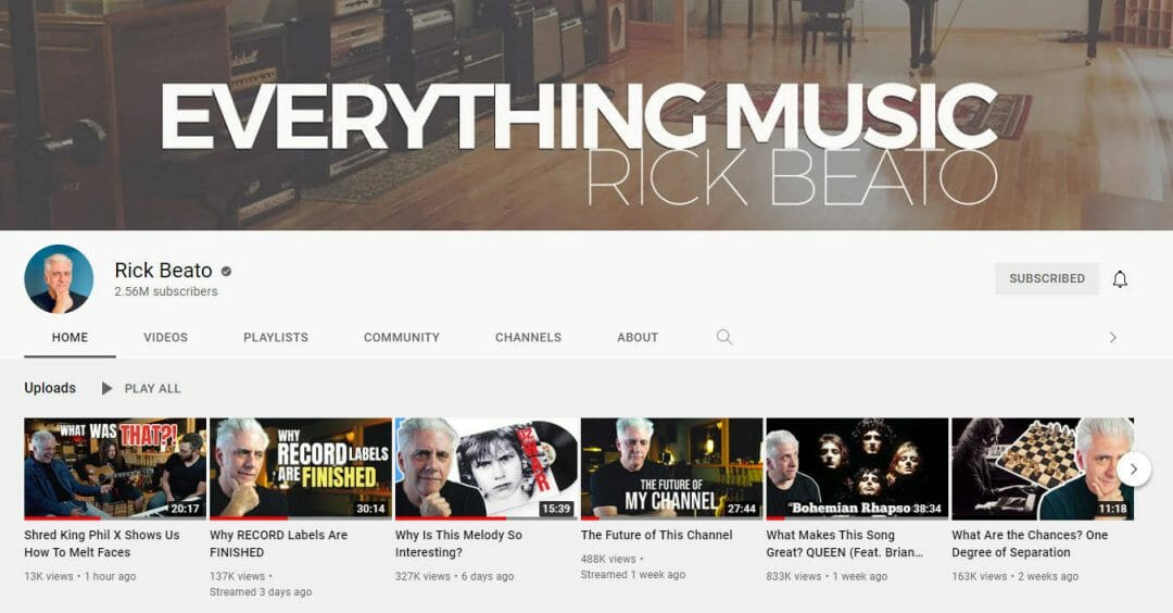 Everything Music YouTube Channel